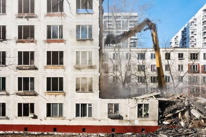 Cнос пятиэтажек завершится доконца года в 3-х округах столицы— Левкин