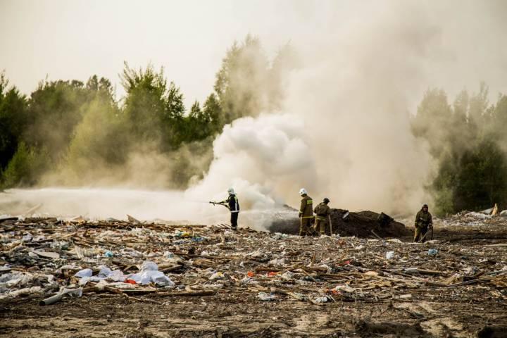 Минэкологии: насерпуховском полигоне ликвидирован самый крупный очаг тления отходов